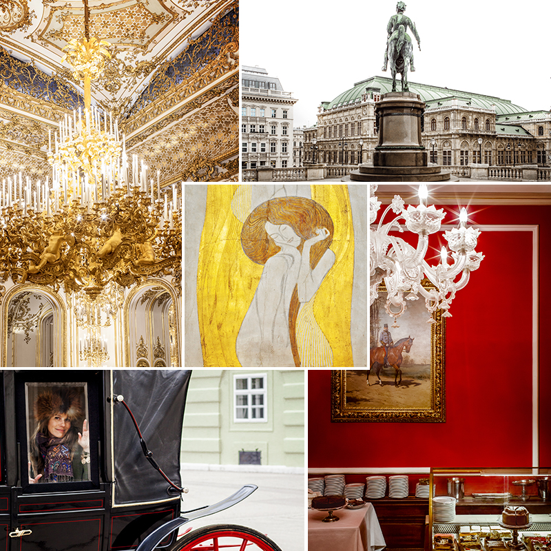 Vienna in Red & Gold