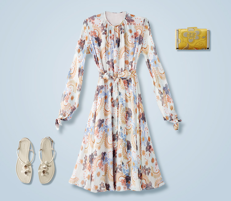 Exclusive AERIN Floral Dress