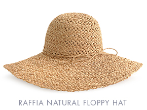 RAFFIA NATURAL FLOPPY HAT