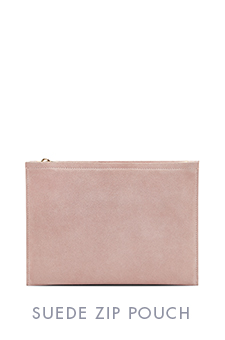 SUEDE ZIP POUCH