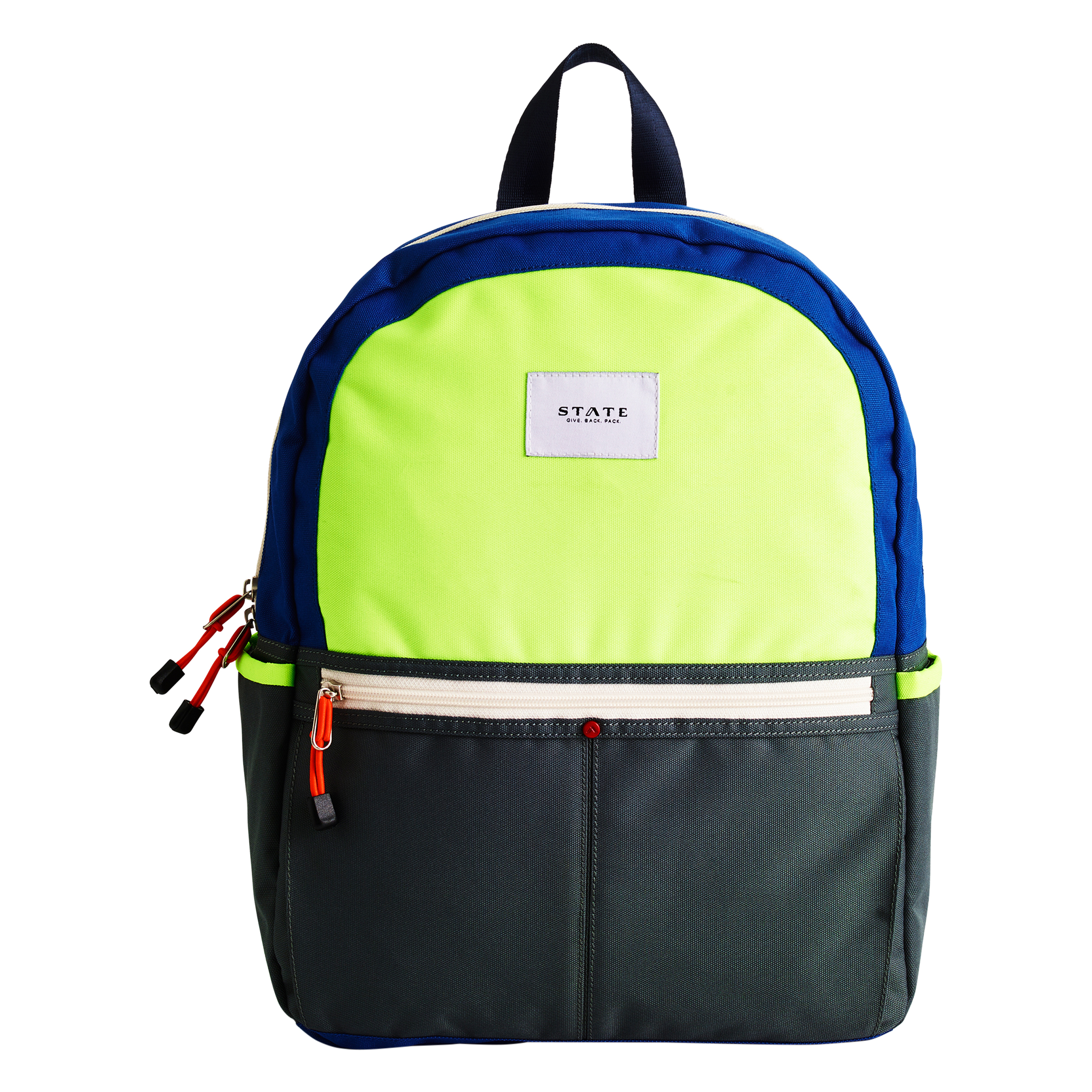 STATE Kane Backpack Lime Grey