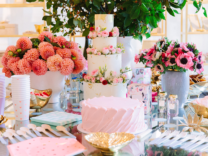 AERIN 5th Anniversary party tablescape